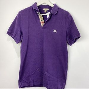 Burberry Brit purple polo golf shirt